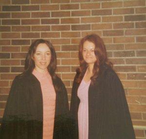 Bev McWhirter and Sandi Richardson at their graduation